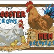 Dimensions 16695 Rooster crows